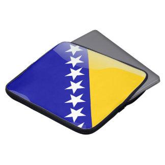 Bosnian glossy flag laptop sleeve