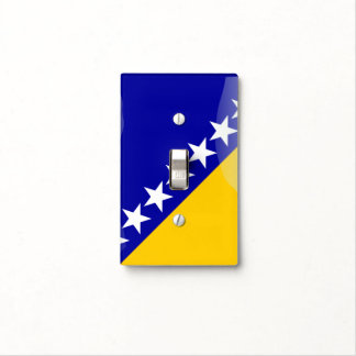 Bosnian glossy flag light switch cover