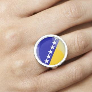 Bosnian glossy flag photo rings