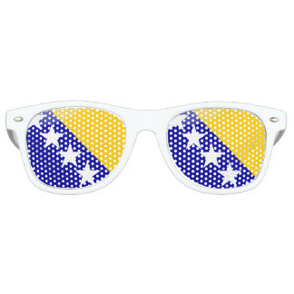 Bosnian glossy flag sunglasses