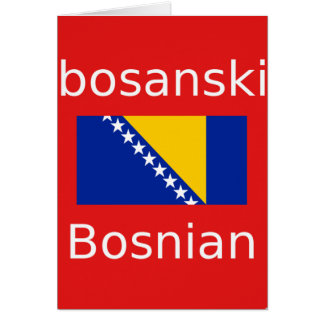 Bosnian Language Design Card