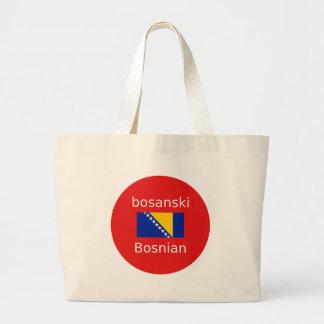 Bosnian Language Design Large Tote Bag