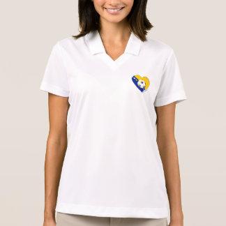 """Bosnian National Soccer Team. Soccer """"BOSNA"""" 2014 Polo T-shirt"""
