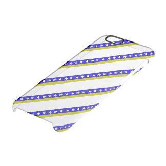Bosnian stripes flag clear iPhone 6/6S case