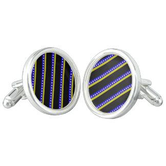 Bosnian stripes flag cufflinks
