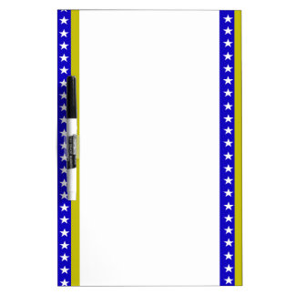 Bosnian stripes flag dry erase board