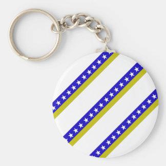 Bosnian stripes flag keychain