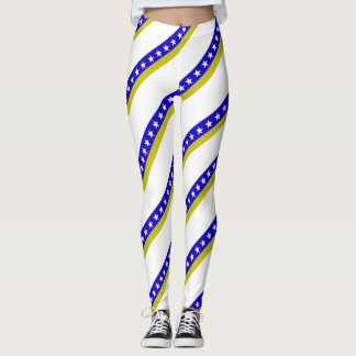 Bosnian stripes flag leggings