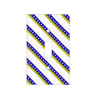 Bosnian stripes flag light switch cover