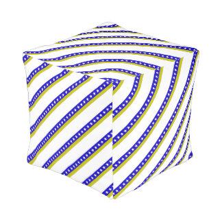 Bosnian stripes flag pouf