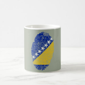 Bosnian touch fingerprint flag coffee mug