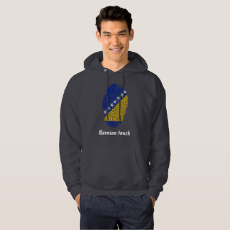 Bosnian touch fingerprint flag hoodie