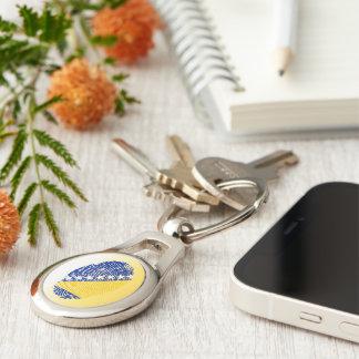 Bosnian touch fingerprint flag keychain