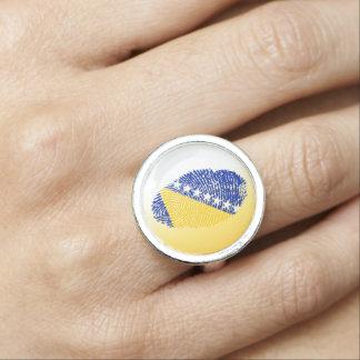 Bosnian touch fingerprint flag photo rings