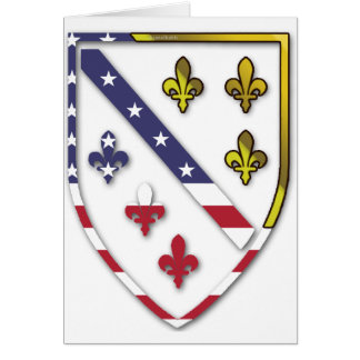BosnianAmerican Clear Custom Flag Design Logo Card