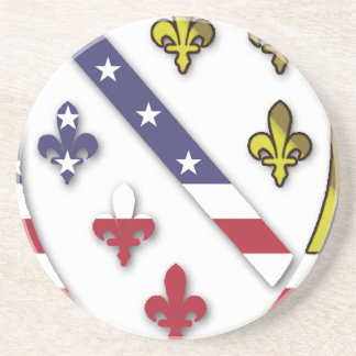 BosnianAmerican Clear Custom Flag Design Logo Coaster