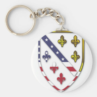 BosnianAmerican Clear Custom Flag Design Logo Keychain