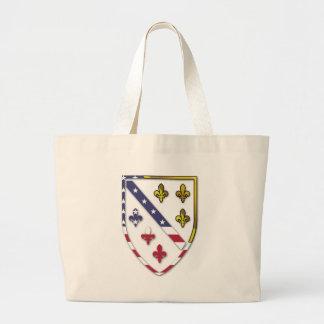 BosnianAmerican Clear Custom Flag Design Logo Large Tote Bag