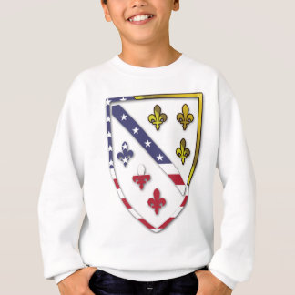 BosnianAmerican Clear Custom Flag Design Logo Sweatshirt