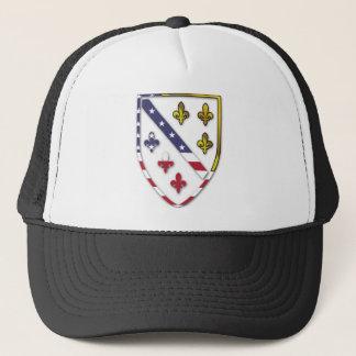 BosnianAmerican Clear Custom Flag Design Logo Trucker Hat