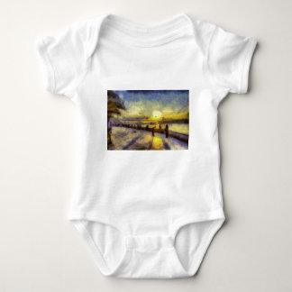Bosphorus Istanbul Sunset Art Baby Bodysuit