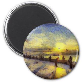 Bosphorus Istanbul Sunset Art Magnet
