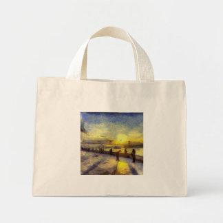 Bosphorus Istanbul Sunset Art Mini Tote Bag