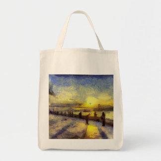 Bosphorus Istanbul Sunset Art Tote Bag