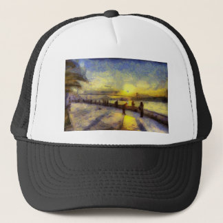 Bosphorus Istanbul Sunset Art Trucker Hat