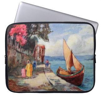 Bosporus Strait Istanbul Sail Boat Ocean View Laptop Sleeve