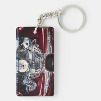 Boss Auto Engine Double-Sided Rectangular Acrylic Keychain