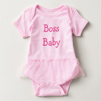 Boss Baby (Pink Letters)* Baby Bodysuit