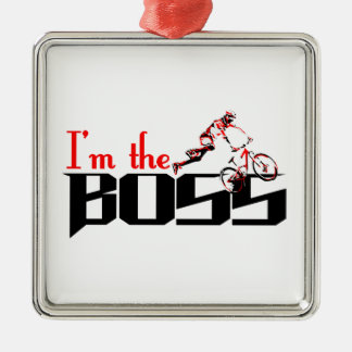 Boss Bike designs Metal Ornament