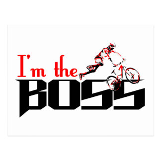 Boss Bike designs Postcard