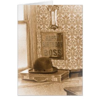 Boss Birthday - Vintage, Nostalgia, Retro Birthday Greeting Card