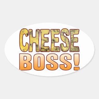 Boss Blue Cheese Oval Sticker