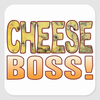 Boss Blue Cheese Square Sticker