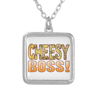 Boss Blue Cheesy Silver Plated Necklace