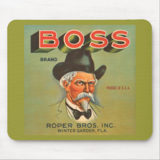 Boss Brand Produce Vintage Ad Mouse Pad