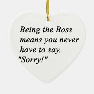 Boss Ceramic Heart Ornament