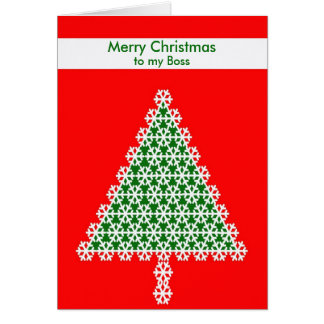 Boss Christmas Card -- Christmas Tree on Red