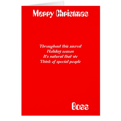 Christmas card greetings to boss the best collection of quotes boss christmas greeting cards zazzle m4hsunfo