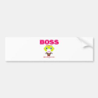 Boss-Cute Monkey-Morocko Bumper Sticker