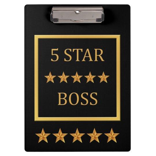 Boss Day Five Star Boss Clipboard