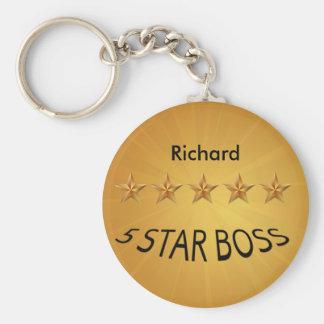 Boss Day Five Star Custom  STD Keychain