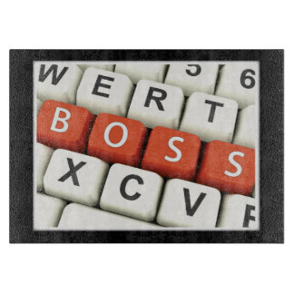 Boss Day, Red Boss in Computer Keyboard Cutting Board