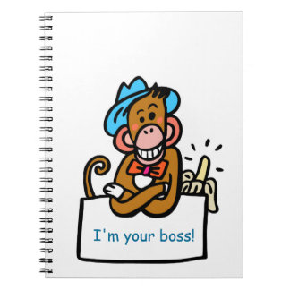 boss diary monkey cartoon notebook