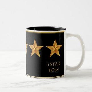 Boss Five 5 Star Award Black Mug
