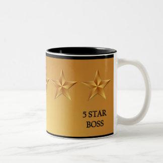 Boss Five 5 Star Award Gold Mug