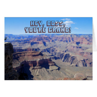 Boss Grand Canyon Birthday Card